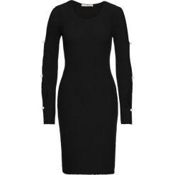 Sukienki: Sukienka z wycięciami na rękawach bonprix czarny