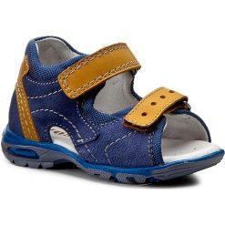 Sandały MIDO - 249 Grabnat/Żółty. Niebieskie sandały męskie skórzane Mido. Za 129,00 zł.