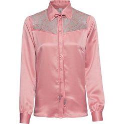Bluzka satynowa z koronką bonprix dymny jasnoróżowy. Czerwone bluzki koronkowe marki OLAIAN, s. Za 49,99 zł.