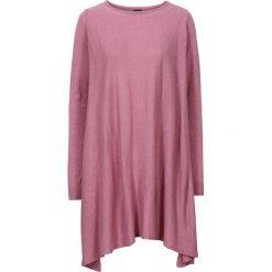Długi sweter bonprix stary róż melanż. Niebieskie swetry klasyczne damskie marki bonprix, z nadrukiem. Za 89,99 zł.