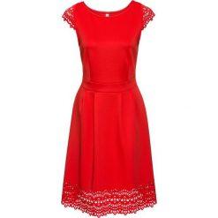 Sukienki: Sukienka z wycięciami bonprix jasnoczerwony