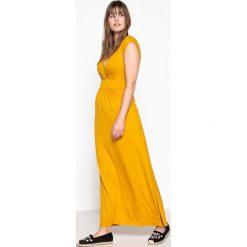 Długie sukienki: Sukienka rozszerzana z dekoltem z przodu i z tyłu