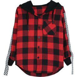 Czarno-Czerwona Koszula Notice Me. Czarne koszule chłopięce marki Born2be. Za 39,99 zł.