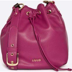 Liu Jo - Torebka. Czerwone torebki worki Liu Jo, w paski, z materiału. W wyprzedaży za 339,90 zł.