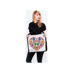 Torba, Torebka przez ramię Serce Łowickie. Brązowe torebki klasyczne damskie Tailormade24, z bawełny. Za 49,00 zł.