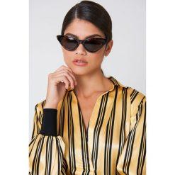 Okulary przeciwsłoneczne damskie: NA-KD Trend Okulary przeciwsłoneczne Pointy Cat Eye - Brown