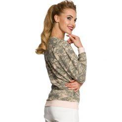 CAMILA Kurtka z bawełny na zamek moro - model 3. Szare kurtki damskie Moe, moro, z bawełny. Za 159,90 zł.