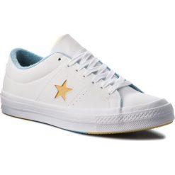 Tenisówki CONVERSE - One Star Ox 160593C White/Mineral Yelow/Shoreline. Białe tenisówki męskie Converse, z gumy. W wyprzedaży za 229,00 zł.