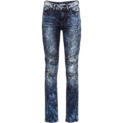 Dżinsy ze stretchem i ozdobnymi szwami SLIM bonprix ciemnoniebieski. Niebieskie jeansy damskie bonprix, z jeansu. Za 109,99 zł.