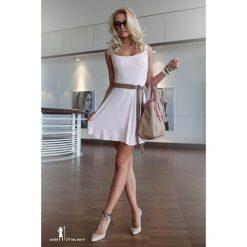 Sukienki: Sukienka rozkloszowana jasnoróżowa