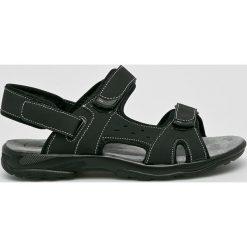 Hasby - Sandały. Czarne sandały męskie skórzane HASBY. W wyprzedaży za 79,90 zł.