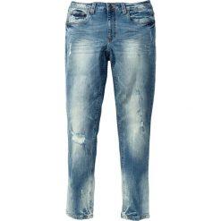 """Dżinsy ze stretchem Skinny Fit Straight bonprix niebieski """"used"""". Niebieskie jeansy męskie relaxed fit marki bonprix, z jeansu. Za 109,99 zł."""