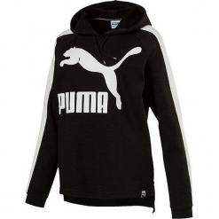 Bluza w kolorze czarnym. Czarne bluzy z kieszeniami damskie marki Puma, xs, z nadrukiem, prążkowane. W wyprzedaży za 113,95 zł.