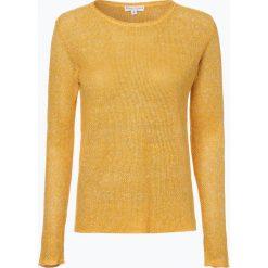 Marie Lund - Sweter damski z lnu, żółty. Żółte swetry klasyczne damskie Marie Lund, xs. Za 79,95 zł.