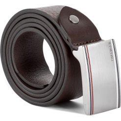 Pasek Męski TOMMY HILFIGER - Corporate Plaque Belt 3.5Cm Adj AM0AM02793 90 254. Brązowe paski męskie TOMMY HILFIGER, w paski, ze skóry. W wyprzedaży za 189,00 zł.