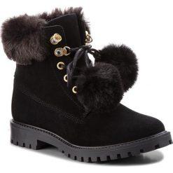 Trapery GUESS - FLTMR3 SUP10 BLACK. Czarne buty zimowe damskie Guess, z materiału. Za 719,00 zł.