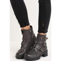 Ciemnoszare Botki Apostate. Czarne buty zimowe damskie Born2be, na niskim obcasie, na obcasie. Za 89,99 zł.