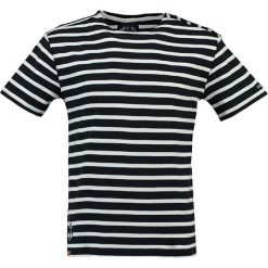 """T-shirty męskie: Koszulka """"Juicio"""" w kolorze granatowo-białym"""