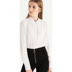 Koszula z koronką - Kremowy. Białe koszule damskie Sinsay, l, w koronkowe wzory, z koronki. Za 59,99 zł.