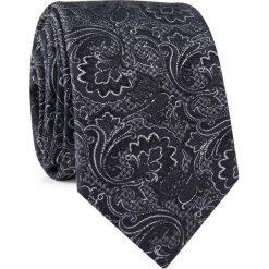 Krawat jedwabny KWSR000323. Szare krawaty męskie marki Reserved, w paski. Za 129,00 zł.