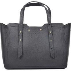 Torebki klasyczne damskie: Skórzana torebka w kolorze czarnym – 22 x 31 x 10 cm