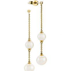 Kolczyki damskie: RABAT Kolczyki Złote – złoto żółte 585, Perła