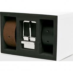 Calvin Klein - Pasek skórzany (2-pack). Czarne paski męskie Calvin Klein, w paski, z materiału. Za 399,90 zł.