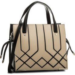 Torebka KAZAR - Nevada 33183-01-36 Beige/Black. Brązowe torebki klasyczne damskie Kazar, w paski, ze skóry. W wyprzedaży za 529,00 zł.