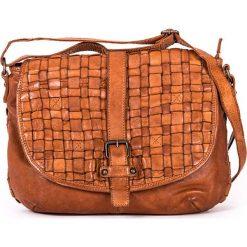 Torebki klasyczne damskie: Skórzana torebka w kolorze szarobrązowym – 30 x 24 x 10 cm