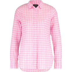 Koszule wiązane damskie: J.CREW CRINKLE GINGHAM Koszula neon azalea