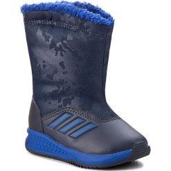 Buty zimowe chłopięce: Śniegowce adidas – RapidaSnow I S81122 Conavy/Croyal/Sesoye