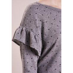 Current/Elliott RUFFLE  Bluza heather grey. Szare bluzy rozpinane damskie Current/Elliott, z bawełny. W wyprzedaży za 471,60 zł.