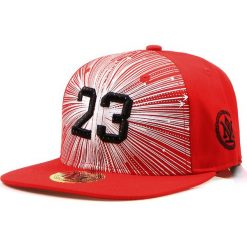 Czapka męska snapback czerwona (hx0198). Czerwone czapki z daszkiem męskie marki Dstreet, z haftami, eleganckie. Za 69,99 zł.