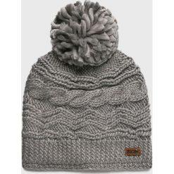 Roxy - Czapka. Szare czapki zimowe damskie Roxy, z dzianiny. W wyprzedaży za 99,90 zł.