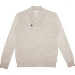 Sweter kaszmirowy w kolorze kremowym. Białe swetry klasyczne męskie Ateliers de la Maille, m, z kaszmiru. W wyprzedaży za 545,95 zł.