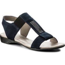Sandały damskie: Sandały EDEO – 0740-826 Dżety Granat/Dżety Srebrne