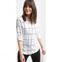 Koszula bimaterial w kratę. Czarne koszule damskie marki Orsay, xs, z bawełny, z dekoltem na plecach. Za 79,99 zł.