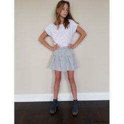 Spódniczki dziewczęce z falbankami: VICTORIA Spódnica z falbaną dla dziewczynek szar