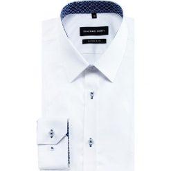 Koszula MICHELE KDBE000435. Białe koszule męskie na spinki marki Giacomo Conti, m, z bawełny, z klasycznym kołnierzykiem. Za 259,00 zł.