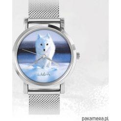Zegarki męskie: Zegarek - Biały lis - metalowy