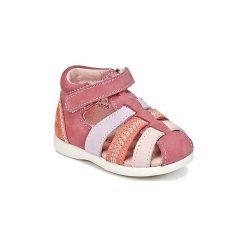 Sandały Dziecko  Kickers  BABYSUN. Niebieskie sandały dziewczęce marki Kickers, z kauczuku, na sznurówki. Za 181,30 zł.