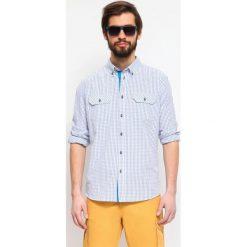 KOSZULA DŁUGI RĘKAW MĘSKA. Szare koszule męskie marki Top Secret, m, z klasycznym kołnierzykiem, z długim rękawem. Za 39,99 zł.