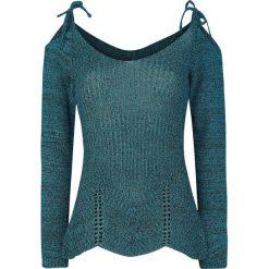 Swetry klasyczne damskie: Innocent Gloria Rib Top Sweter damski niebieski (Petrol)