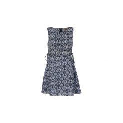 Sukienki krótkie Moony Mood  GIRA. Niebieskie sukienki hiszpanki Moony Mood, l, z krótkim rękawem, mini. Za 127,20 zł.