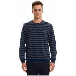 Galvanni Sweter Męski Gentle L, Ciemnoniebieski. Czarne swetry klasyczne męskie GALVANNI, l, w paski, z materiału. W wyprzedaży za 169,00 zł.