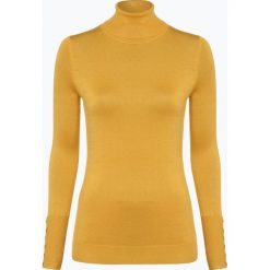Marie Lund - Sweter damski, żółty. Żółte swetry klasyczne damskie Marie Lund, xxl, prążkowane, z golfem. Za 149,95 zł.
