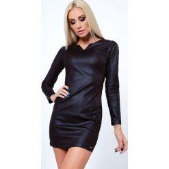 Sukienka z ekoskóry czarna MIS13. Czarne sukienki Fasardi, m. Za 99,00 zł.