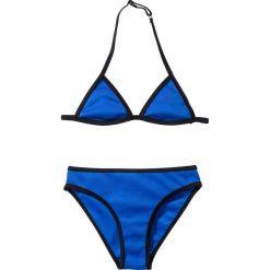 Stroje dwuczęściowe dziewczęce: Bikini dziewczęce (2 części) bonprix niebiesko-czarny