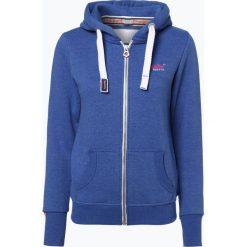 Bluzy damskie: Superdry – Damska bluza rozpinana, niebieski