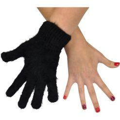 Rękawiczki damskie: Art of Polo Rękawiczki damskie 5-palczaste futerkowe czarne